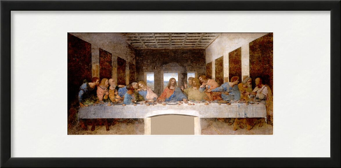 The Last Supper - Leonardo da Vinci from AUX BEAUX-ARTS, Prodi Art, apostles, last supper, church, christ, Jesus, Leonard da vinci