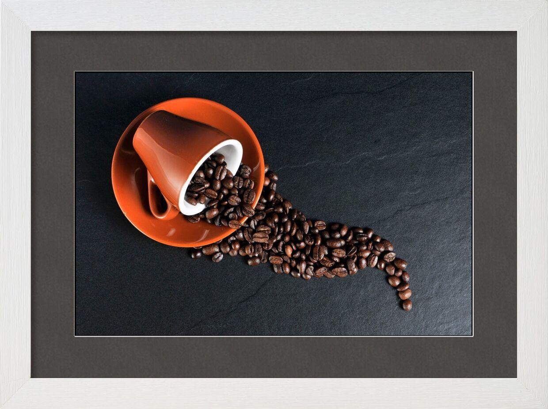 La tasse et ses grains de Pierre Gaultier, Prodi Art, des haricots, tasse à café, grains de café, Coupe, café