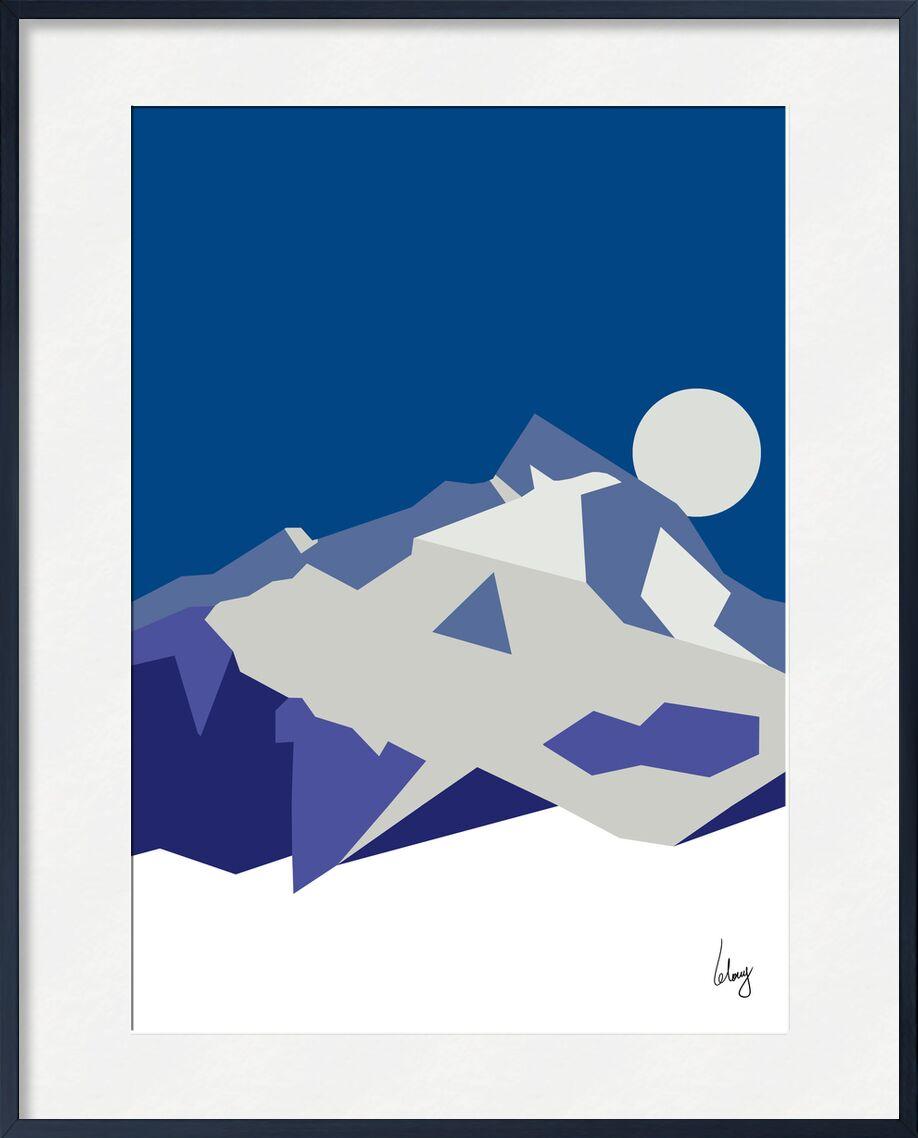 La Muzelle de Benoit Lelong, Prodi Art, neige, soir, nuit, lune, montagnes, isere, oisans