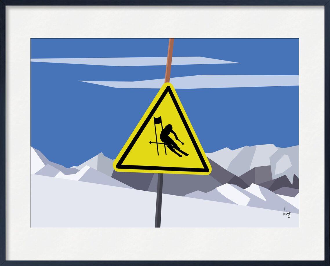 Slalom de Benoit Lelong, Prodi Art, ciel bleu, inspirant, calme, décoration, original, nature, France, Alpes, Voyage, montagnes, Lac, artiste, vacances, horizon, neige, ski, oisans, sommet, création, graphique, des sports, slalom, glacier, les deux alpes, 2 alpes, 3600, ciel nuages