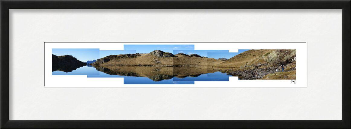 Le Lac Noir de Benoit Lelong, Prodi Art, ciel, calme, décoration, original, nature, France, Alpes, bleu, sommet, Voyage, montagnes, Lac, inspirant