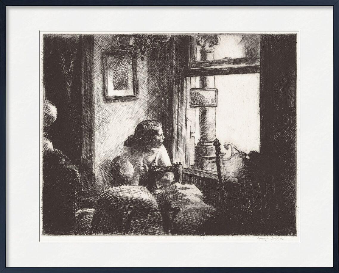 East Side Interior - Edward Hopper from AUX BEAUX-ARTS, Prodi Art, Edward Hopper, woman, couture, New-York