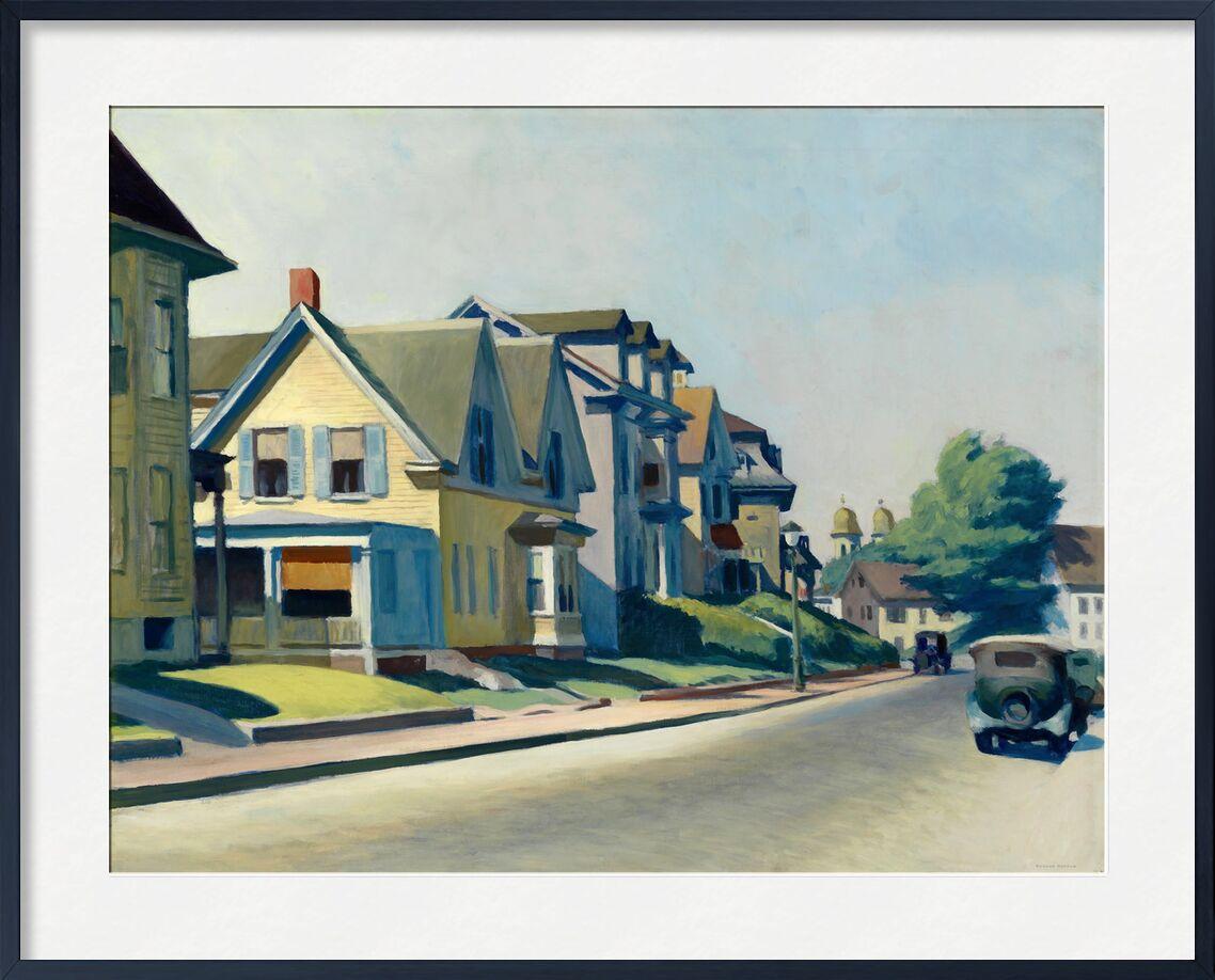 Sun on Prospect Street (Gloucester, Massachusetts) - Edward Hopper from AUX BEAUX-ARTS, Prodi Art, Edward Hopper, painting, city, street, America, House