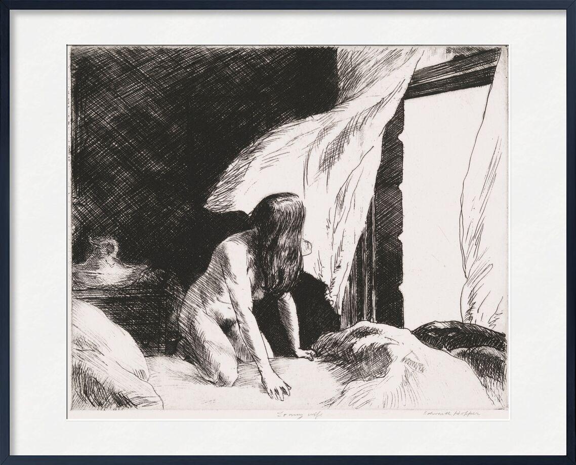 Viento de la Tarde - Edward Hopper desde AUX BEAUX-ARTS, Prodi Art, desnudo, mujer, blanco y negro, lápiz, dibujo, Edward Hopper, desnudo