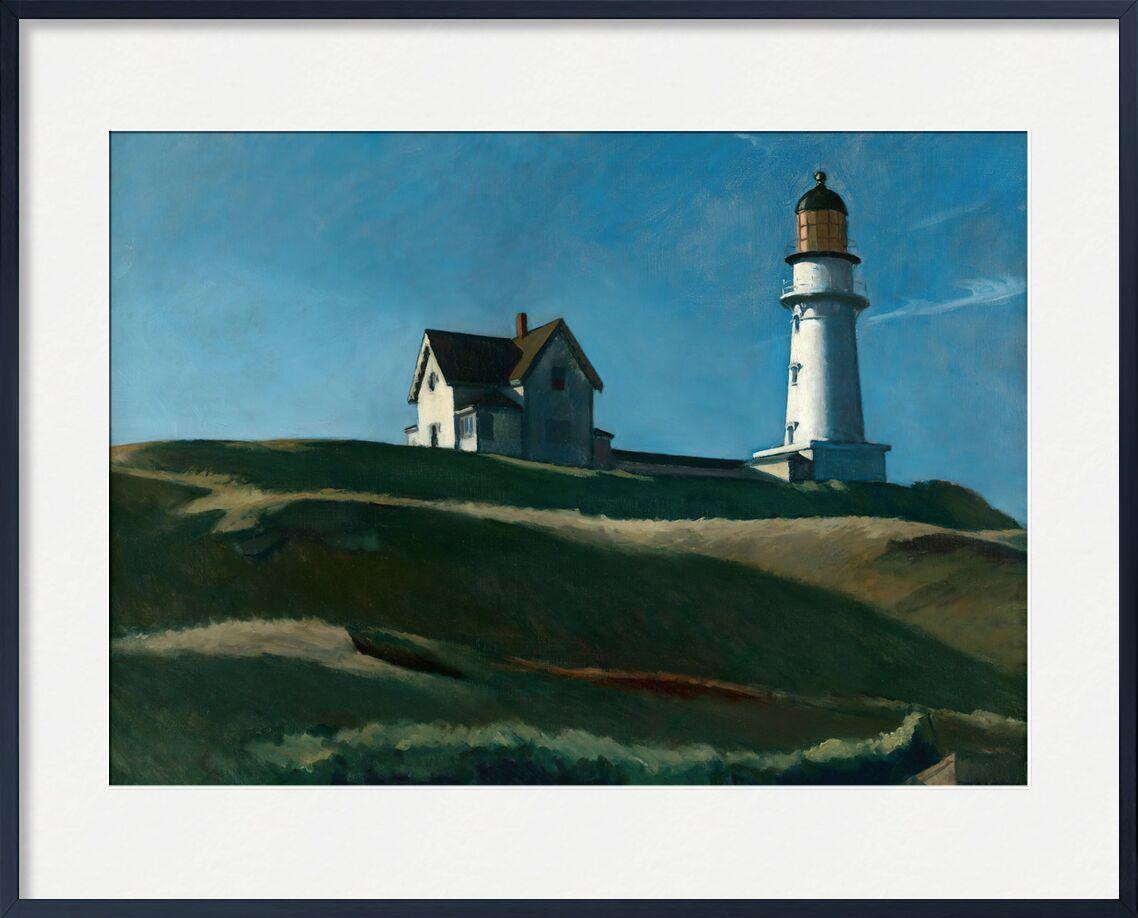 Lighthouse Hill - Edward Hopper from AUX BEAUX-ARTS, Prodi Art, Edward Hopper, headlight, hills, landscape, meadow