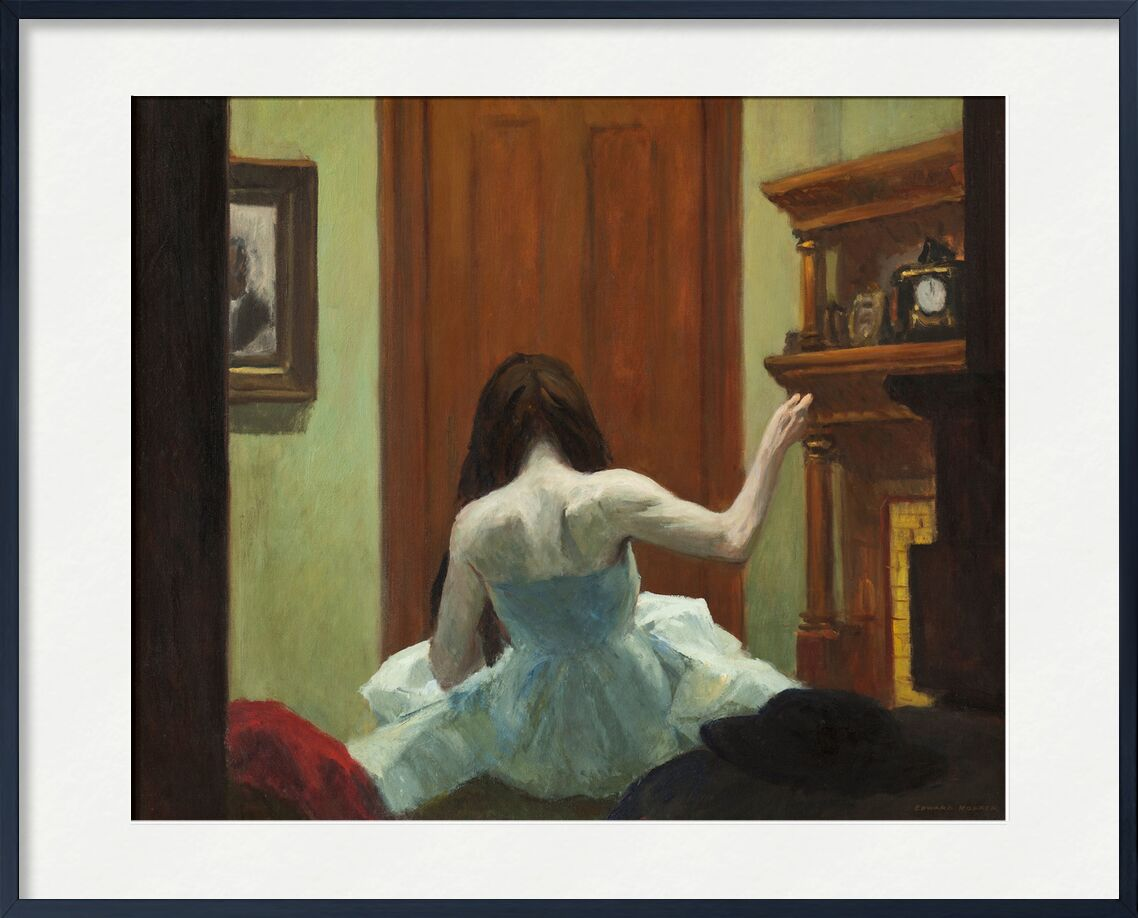 New Yorker Innenraum - Edward Hopper von AUX BEAUX-ARTS, Prodi Art, Edward Hopper, Mädchen, Tänzer