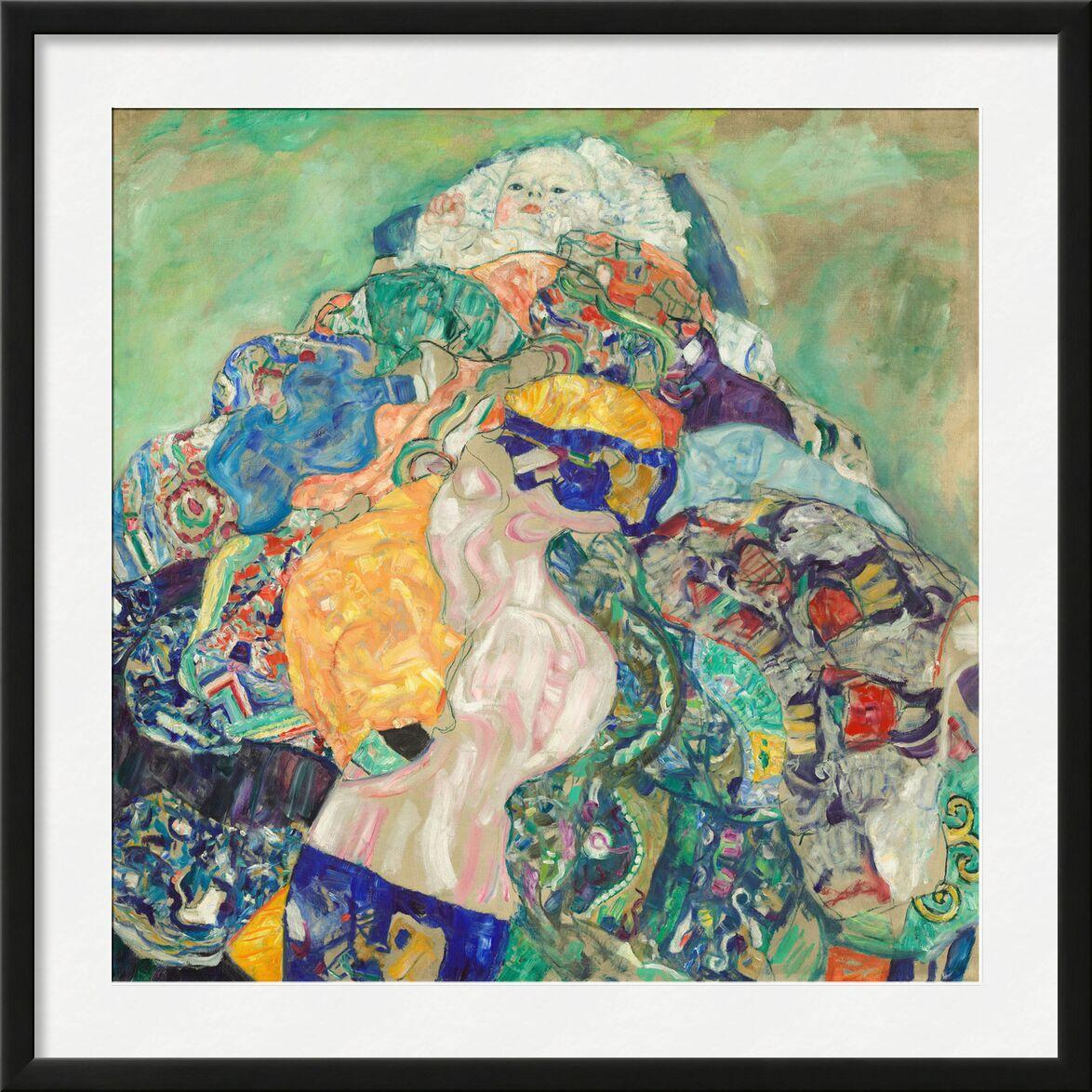 Baby (Cradle) - Gustav Klimt from AUX BEAUX-ARTS, Prodi Art, KLIMT, baby, childhood, drawing, painting, child, cradle