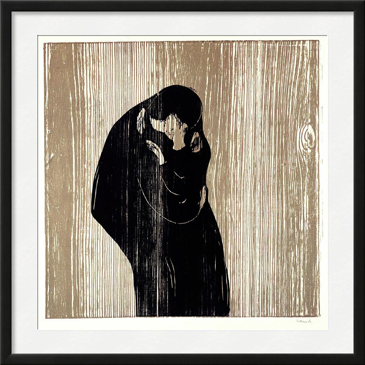 Der Kuss IV - Edvard Munch from AUX BEAUX-ARTS, Prodi Art, woman, man, kiss, drawing, Edvard Munch