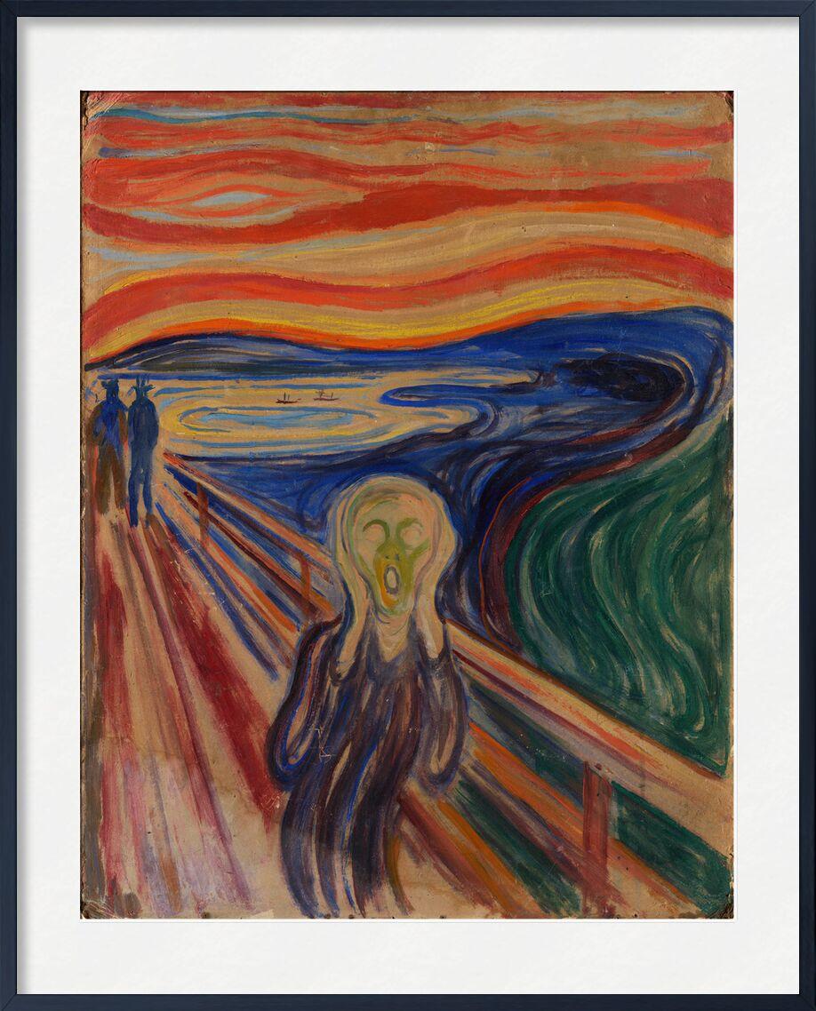 Der Schrei - Edvard Munch von AUX BEAUX-ARTS, Prodi Art, Malerei, Edvard Munch, schreien, leichte Schmerzen, Pein
