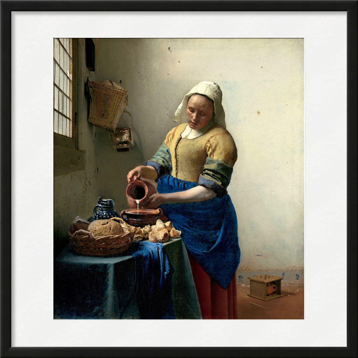 La Laitière - Johannes Vermeer de AUX BEAUX-ARTS, Prodi Art, Johannes Vermeer, cuisine, nourriture, laitière, lait, cuisiner, la douleur