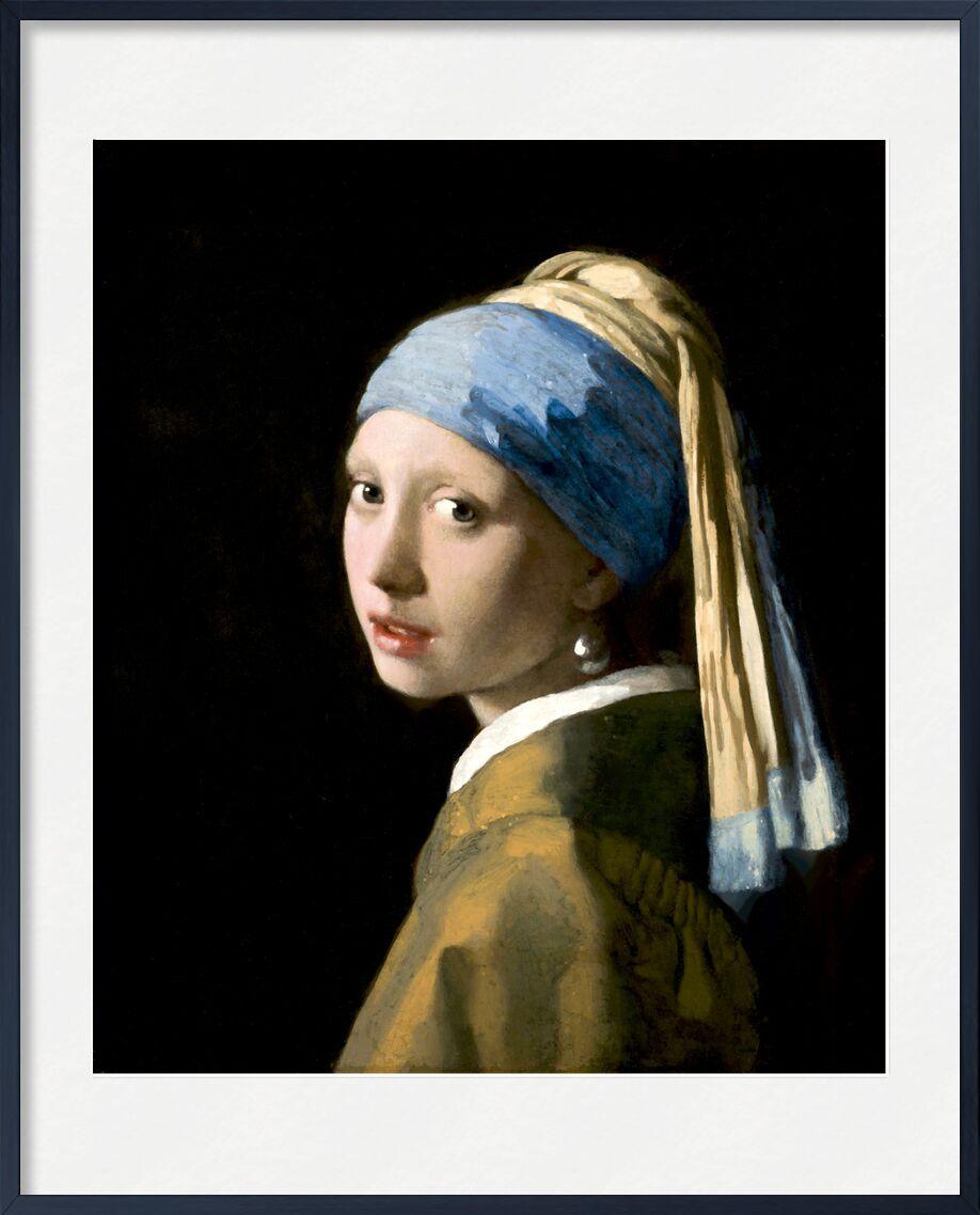 La Jeune Fille à la Perle - Johannes Vermeer de AUX BEAUX-ARTS, Prodi Art, jeune fille, portrait, perlé, visage, femme, Johannes Vermeer