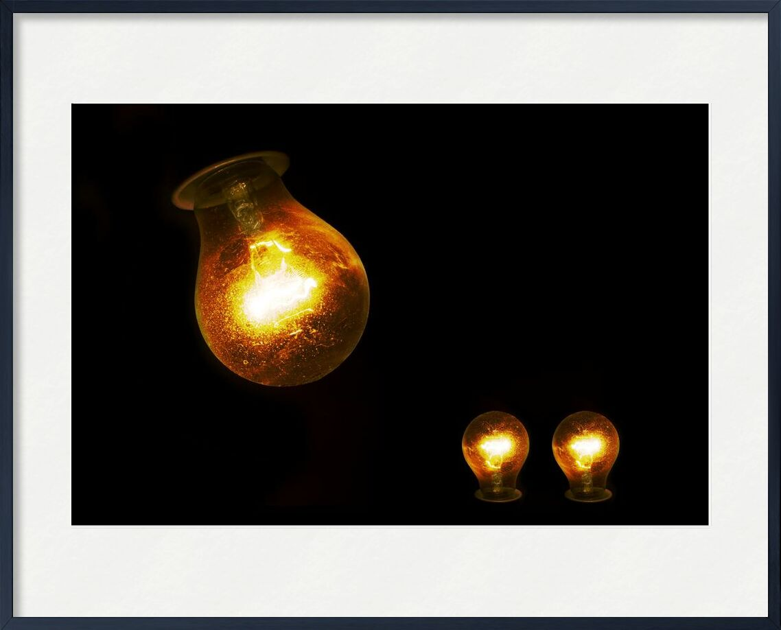 Electric light from Pierre Gaultier, Prodi Art, ball-shaped, bright, bulb, burnt, close-up, dark, electric, electrical, electricity, energy, glass, glow, heat, hot, idea, illuminated, incandescent, lamps, light, light, bulb, lighting, power, technology