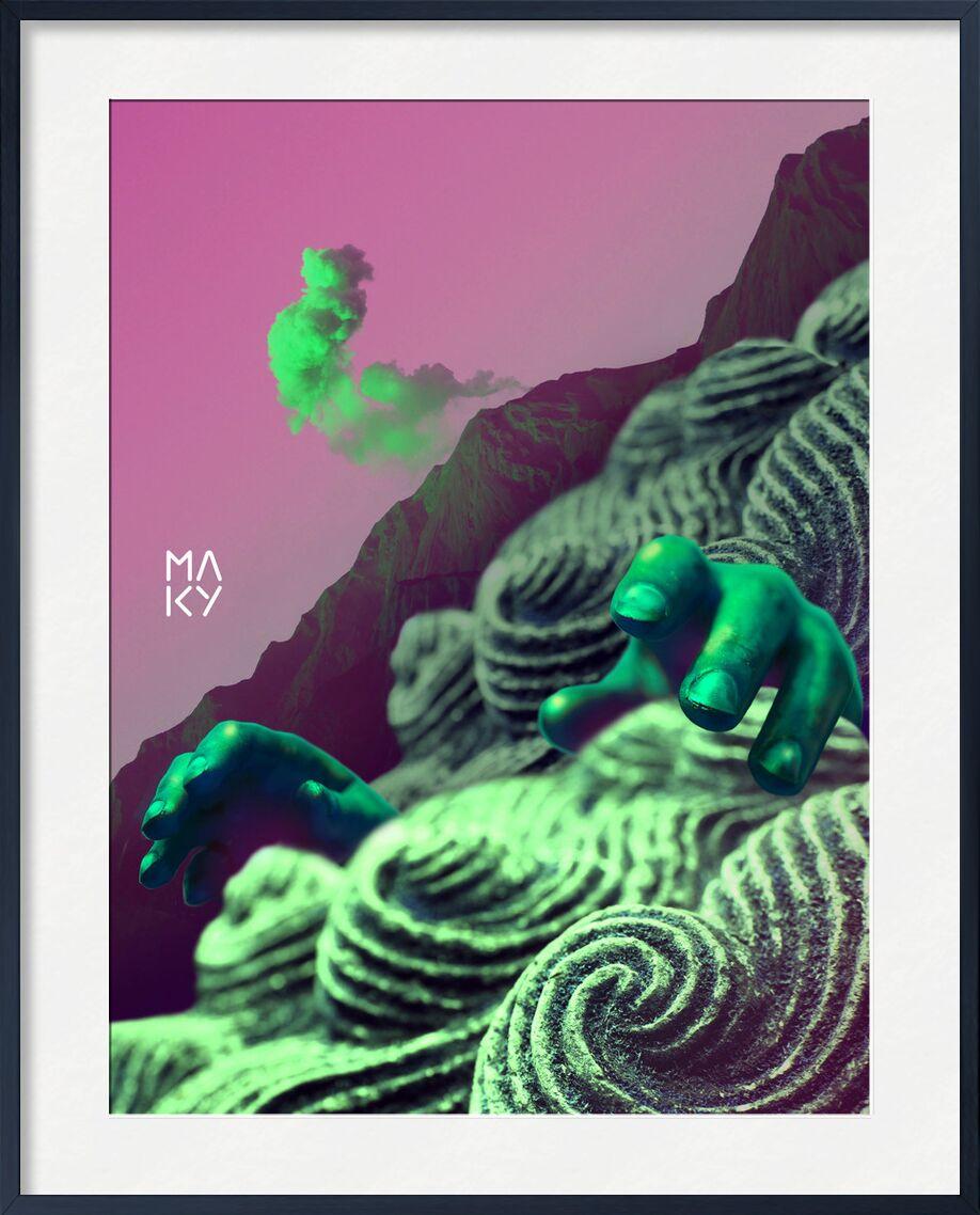 気8.2 from Maky Art, Prodi Art, photography, digital art, visual art, volcano, green, surrealist