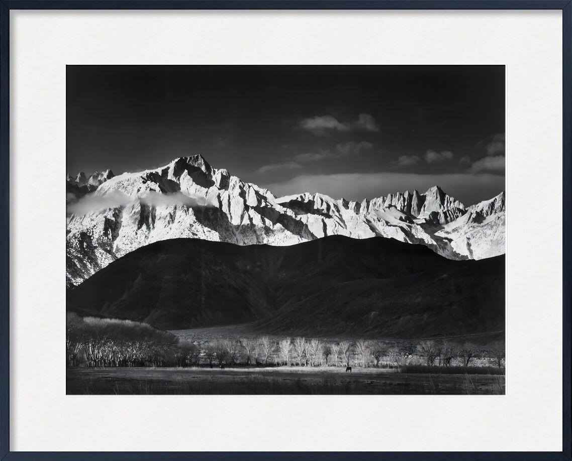 Winter Sunrise from Lone Pine, Sierra Nevada - Ansel Adams 1944 from AUX BEAUX-ARTS, Prodi Art, adams, Sierra Nevada, USA, lake, forest, landscape, black-and-white, sky, ANSEL ADAMS, mountains