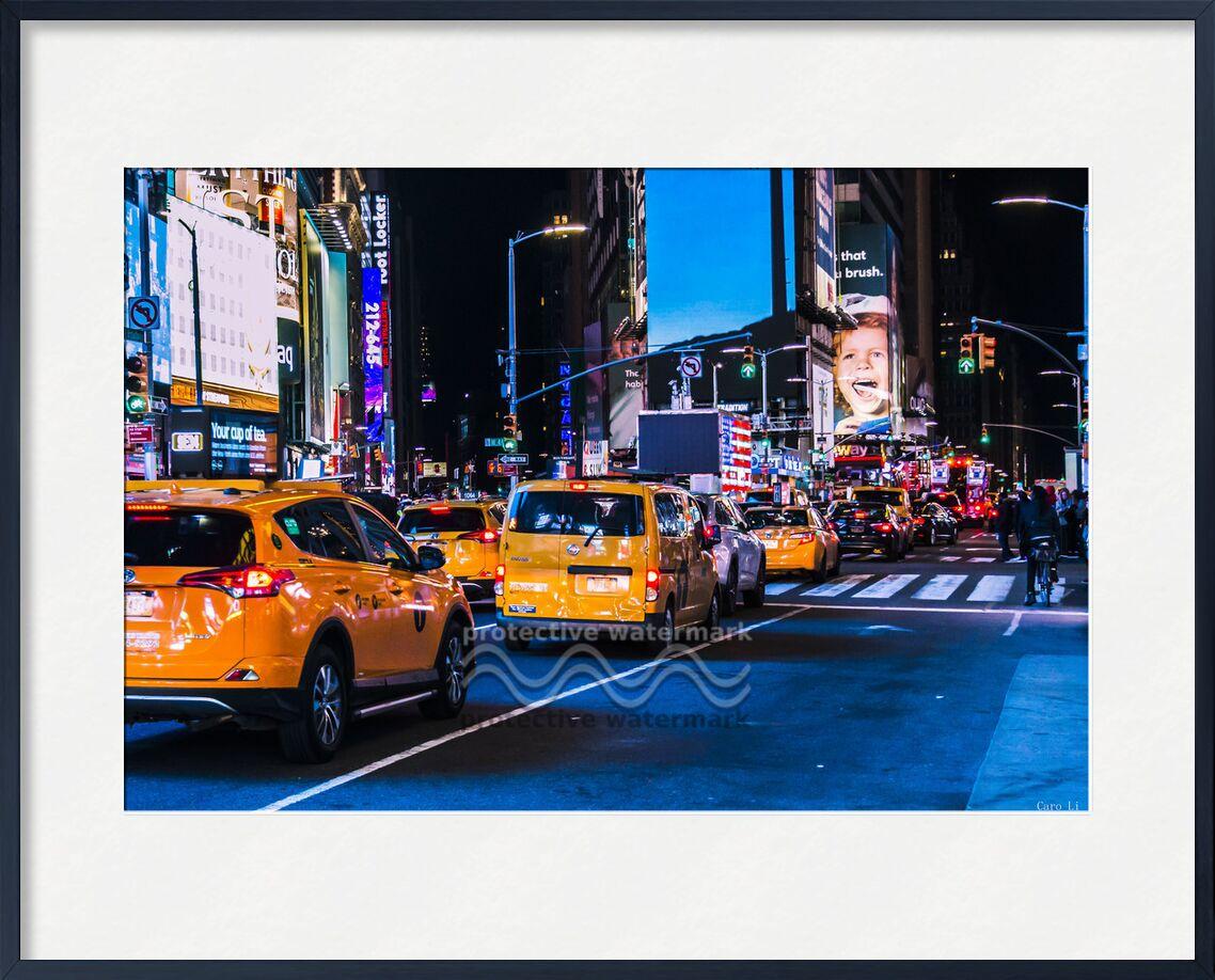 NY Street 3 von Caro Li, Prodi Art, Vereinigten Staaten, New York bei Nacht, USA, Stadt, NY, New York, Lieber Li