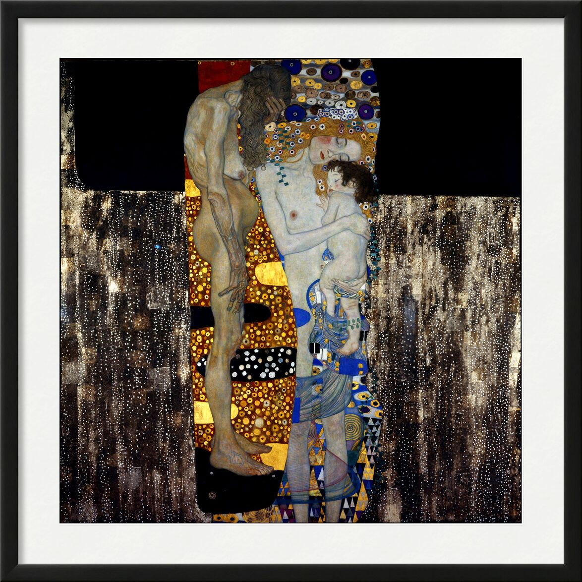 The Three Ages of Woman - Gustav Klimt von AUX BEAUX-ARTS, Prodi Art, größer werden, Alter, Alter, Tafel, Malerei, Kind, Frau, KLIMT