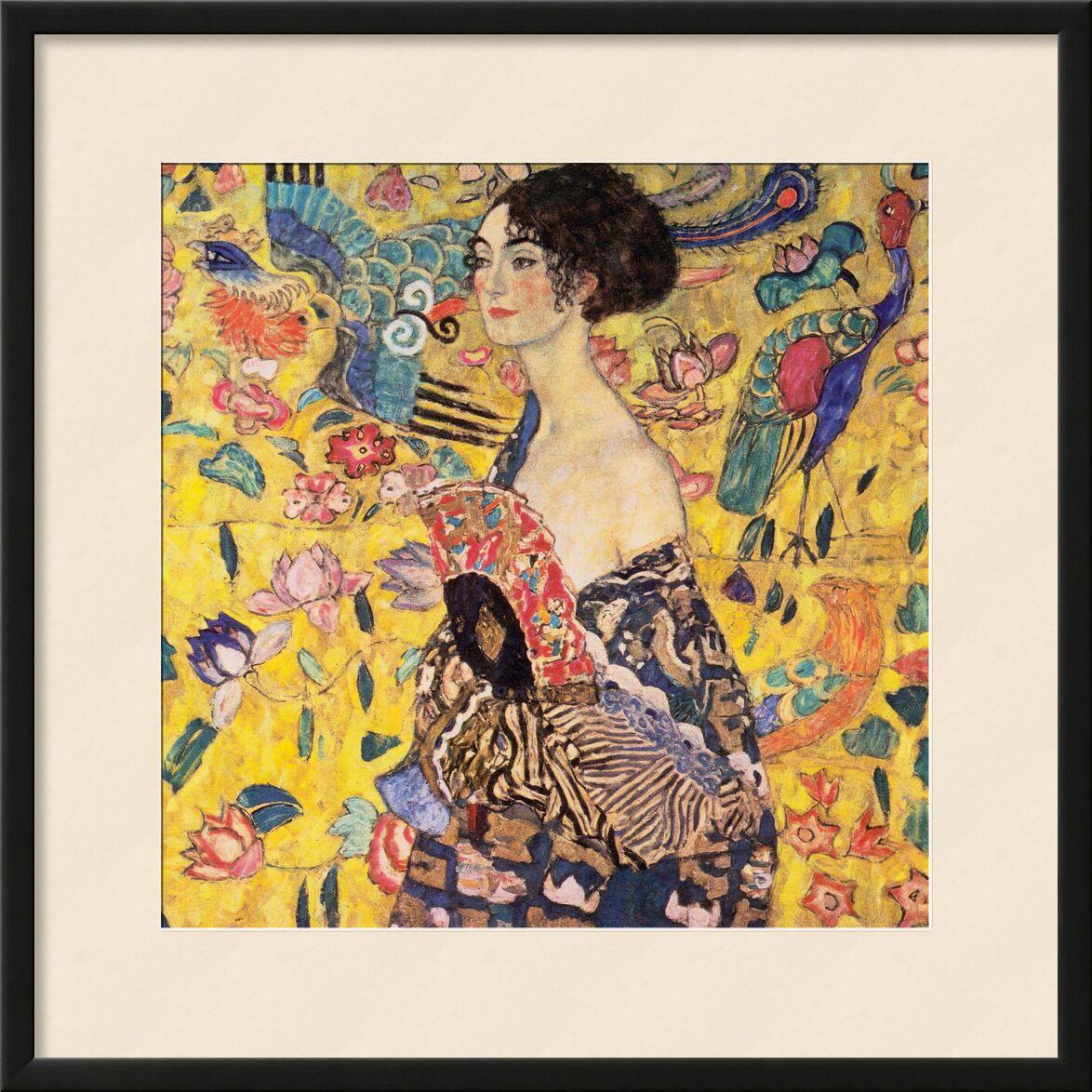 The Lady with a Fan - Gustav Klimt from AUX BEAUX-ARTS, Prodi Art, range, portrait, face, painting, woman, Art Nouveau, KLIMT