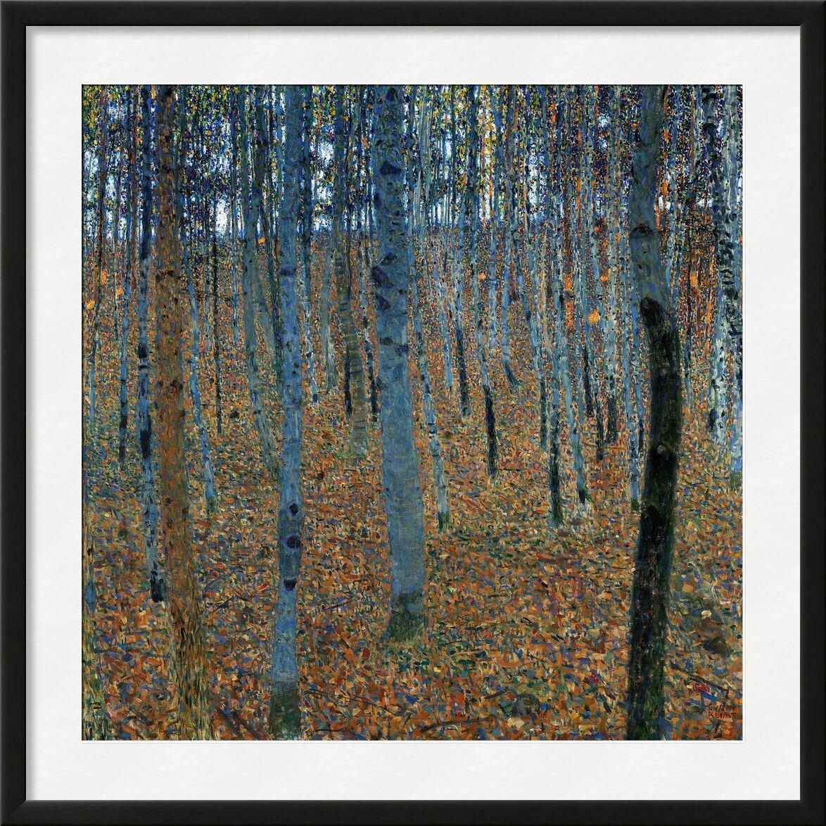 Beech Forest - Gustav Klimt from AUX BEAUX-ARTS, Prodi Art, forest, autumn, leaves, trees, KLIMT, Art Nouveau, birch