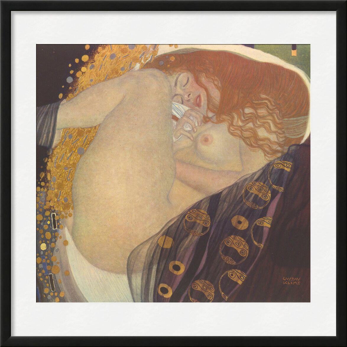 Danae I - Gustav Klimt von AUX BEAUX-ARTS, Prodi Art, KLIMT, Traum, Sonnenuntergang, Nacht, Blatt, Rotschopf, nackt, Frau, Malerei, Jugendstil