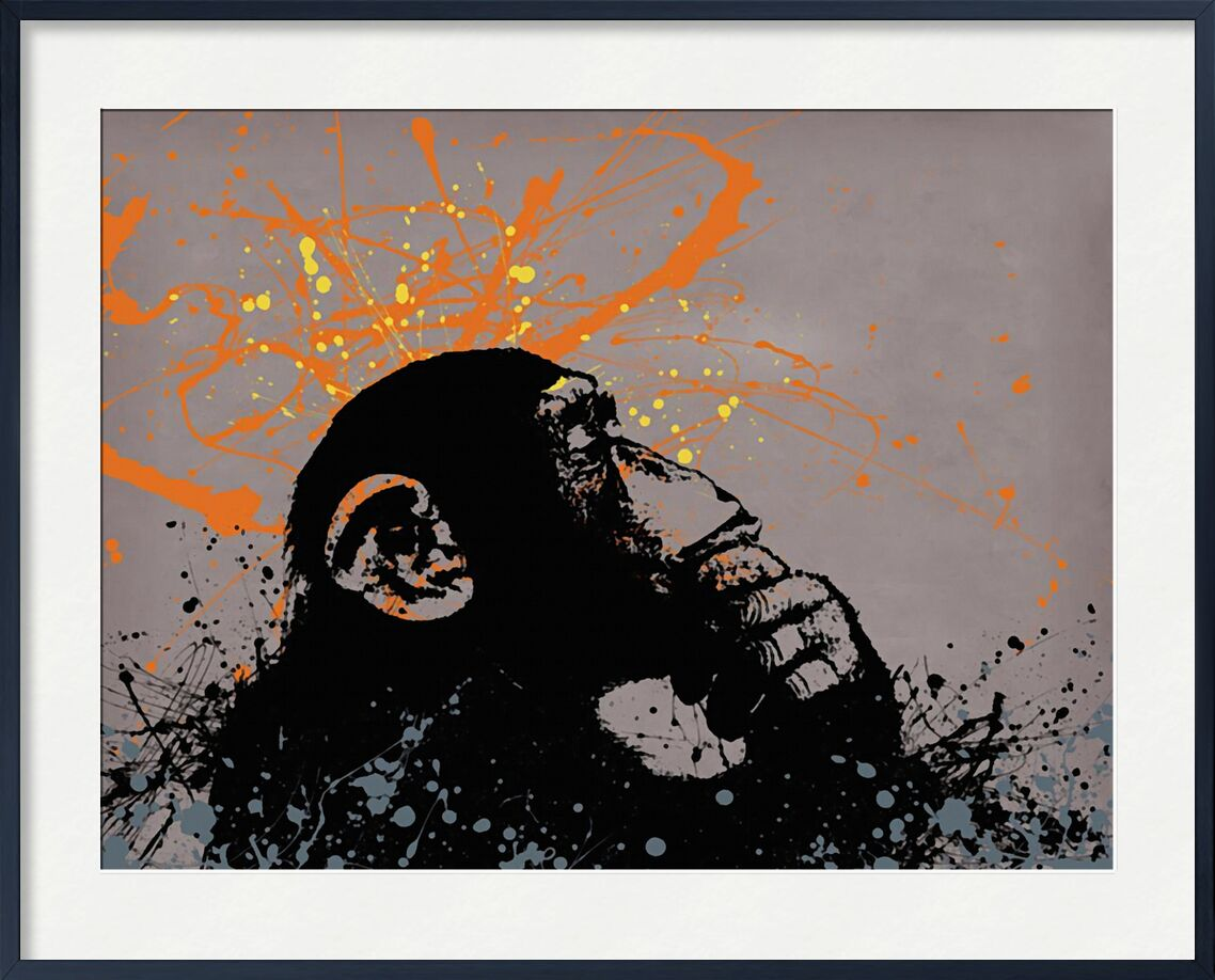 Thinker monkey - BANKSY from AUX BEAUX-ARTS, Prodi Art, street art, graffiti, banksy, monkey, graphic