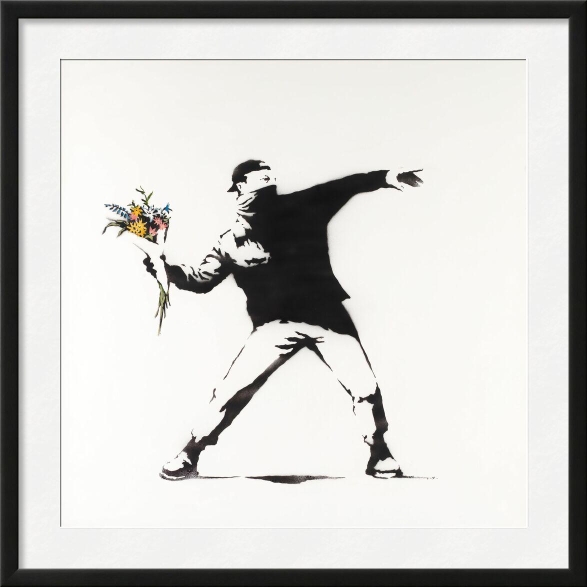 Love Is in the Air - BANKSY von AUX BEAUX-ARTS, Prodi Art, banksy, Liebe, Revolution, Luft, Graffiti, Straßenkunst