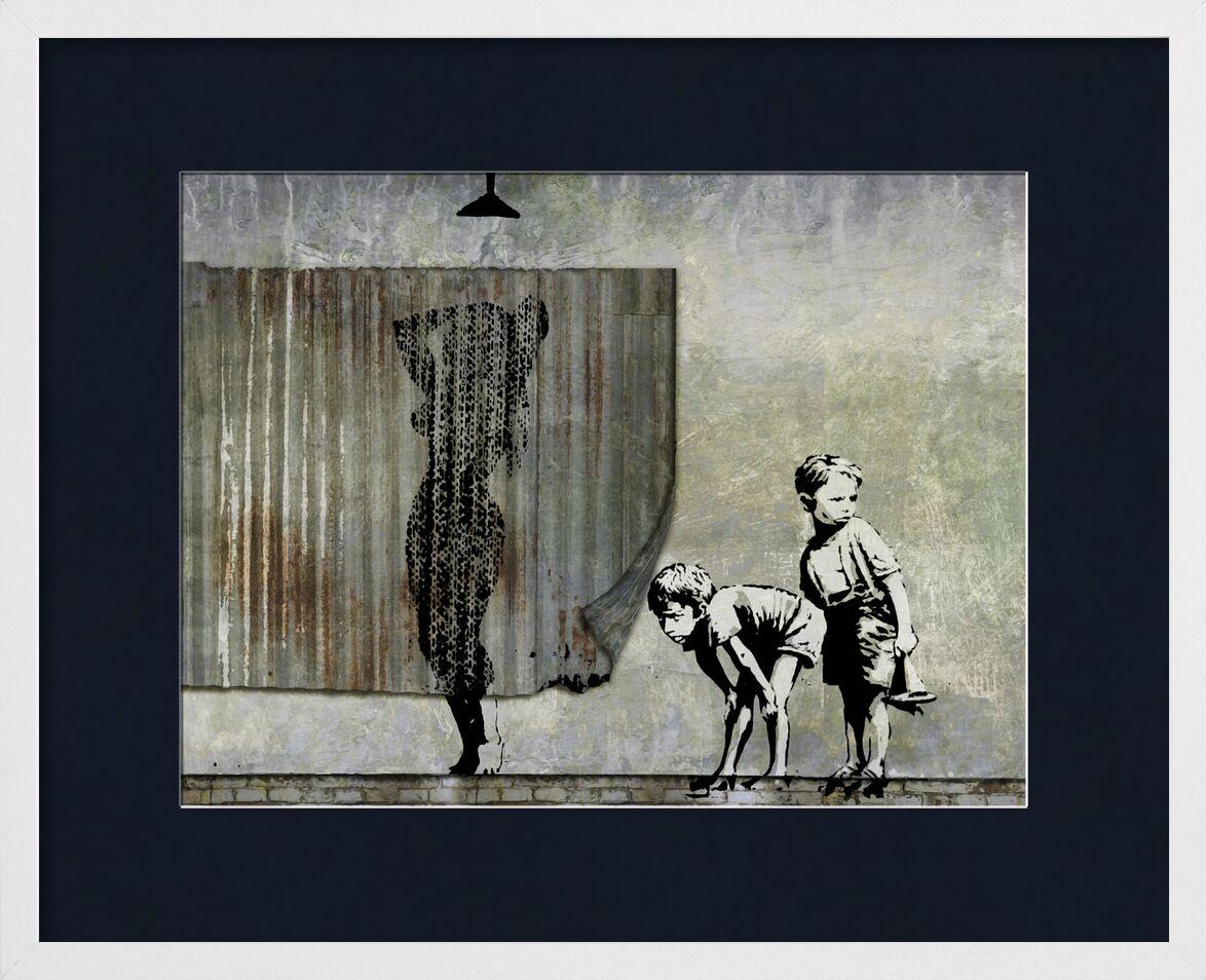 Shower Peepers - BANKSY desde AUX BEAUX-ARTS, Prodi Art, voyeurs, pintada, arte callejero, ducha, Banksy