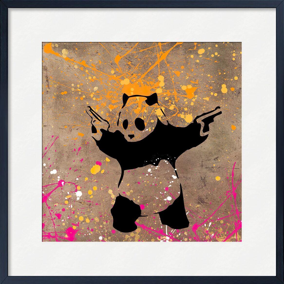 Panda with Guns - BANKSY desde AUX BEAUX-ARTS, Prodi Art, panda, pistolas, arte callejero, Banksy, pintada