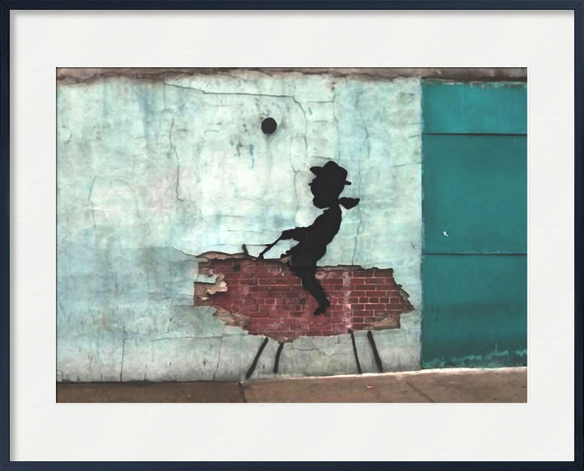 Pig - BANKSY desde AUX BEAUX-ARTS, Prodi Art, arte callejero, cerdo, Banksy, vaquero