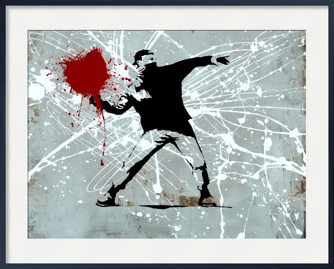 Painted heart Thrower - BANKSY from AUX BEAUX-ARTS, Prodi Art, banksy, heart, street art, painted