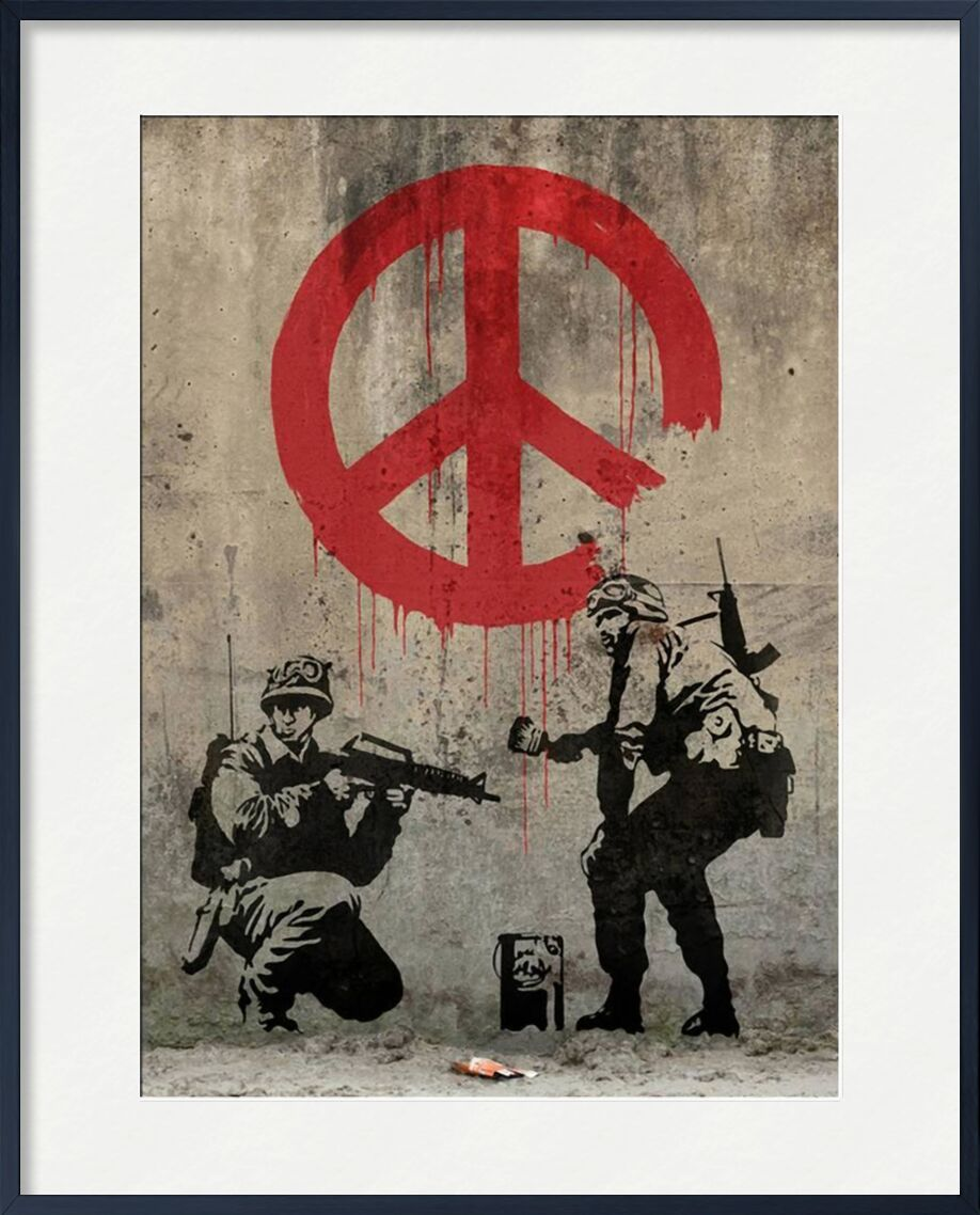 Peace - BANKSY from AUX BEAUX-ARTS, Prodi Art, banksy, peace, street art, graffiti