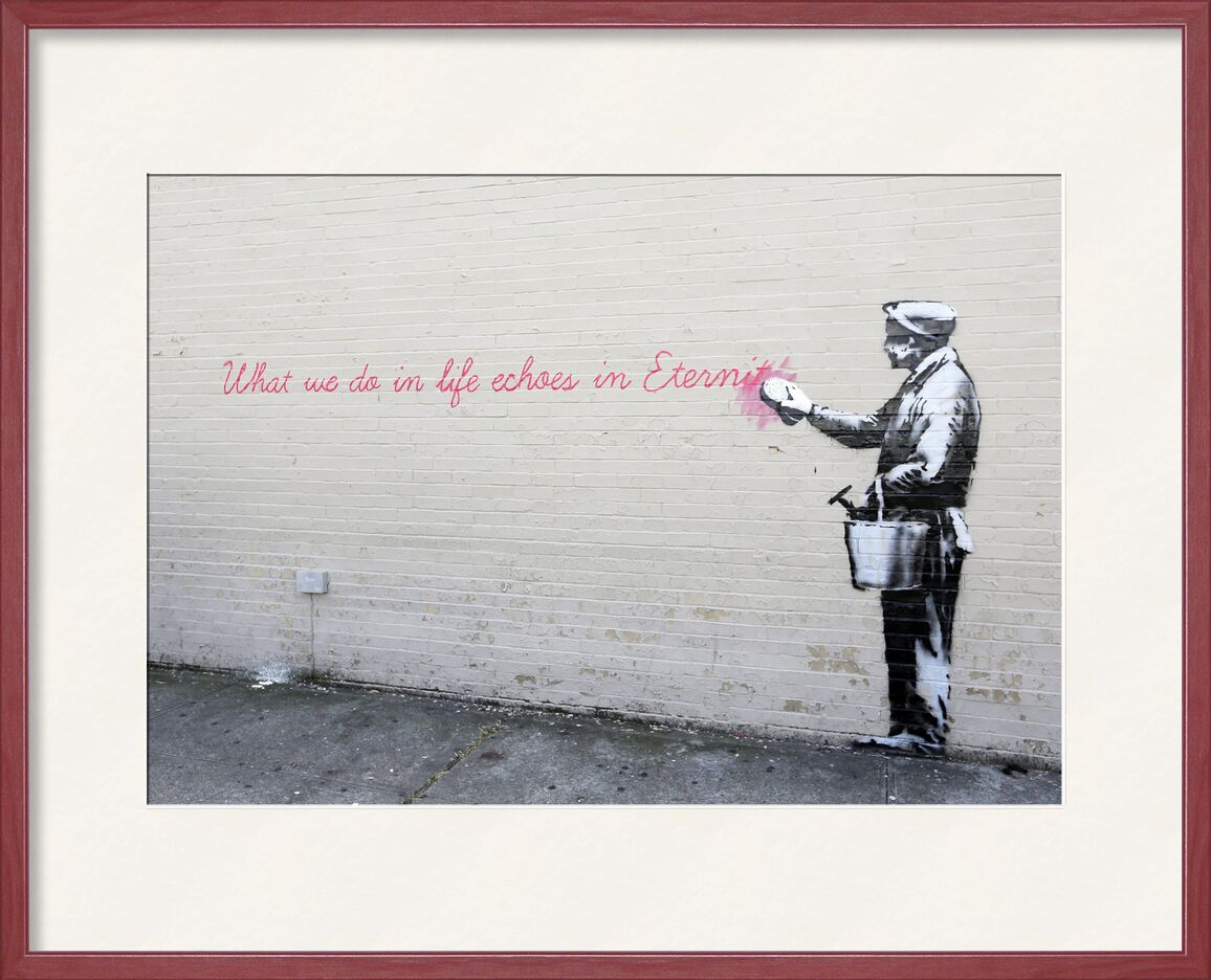 Echoes - BANKSY from AUX BEAUX-ARTS, Prodi Art, eternity, echoes, BANSKY, graffiti, street art