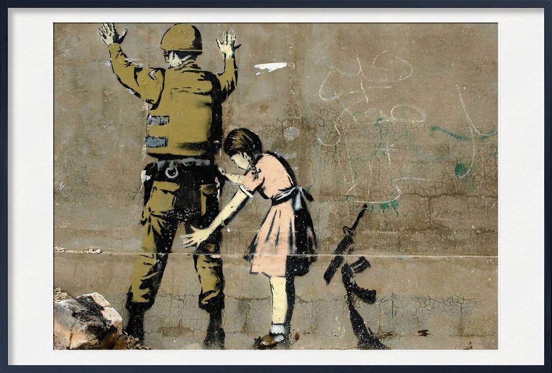 War - BANKSY from AUX BEAUX-ARTS, Prodi Art, banksy, War, military, girl, peace, armed