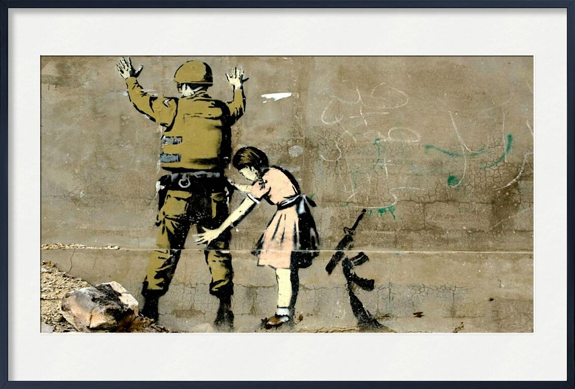 War - BANKSY von AUX BEAUX-ARTS, Prodi Art, bewaffnet, Frieden, Mädchen, Militär, Krieg, banksy
