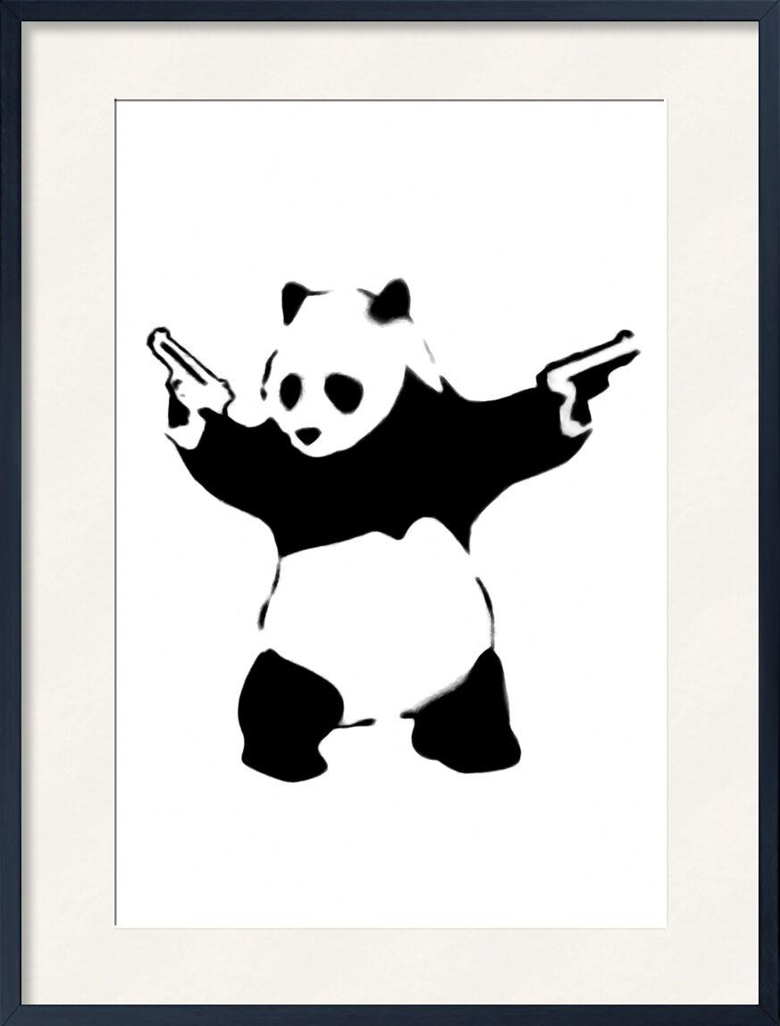 Pandamonium - BANKSY from AUX BEAUX-ARTS, Prodi Art, banksy, street art, panda, armed, rebellion