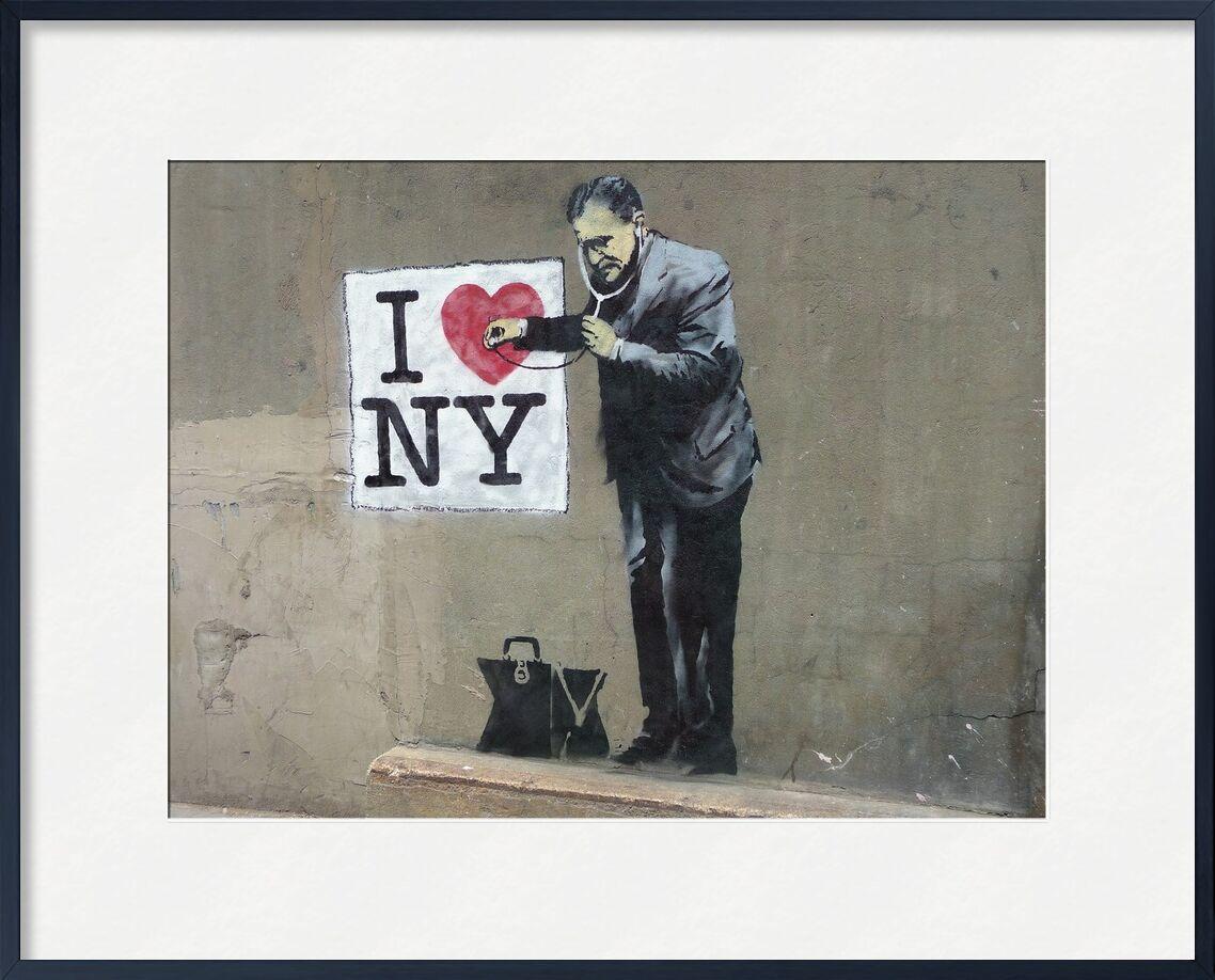 I Love NY - BANKSY von AUX BEAUX-ARTS, Prodi Art, banksy, New York, Straßenkunst, Liebe, Graffiti