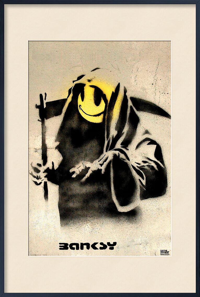 The Reaper - BANKSY from AUX BEAUX-ARTS, Prodi Art, banksy, graffiti, mower, smiley