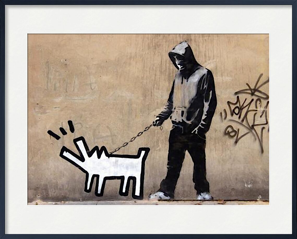 Details about  /Banksy Style Dog Catching Frisbee Street Art  Wall Decor Poster No Framed