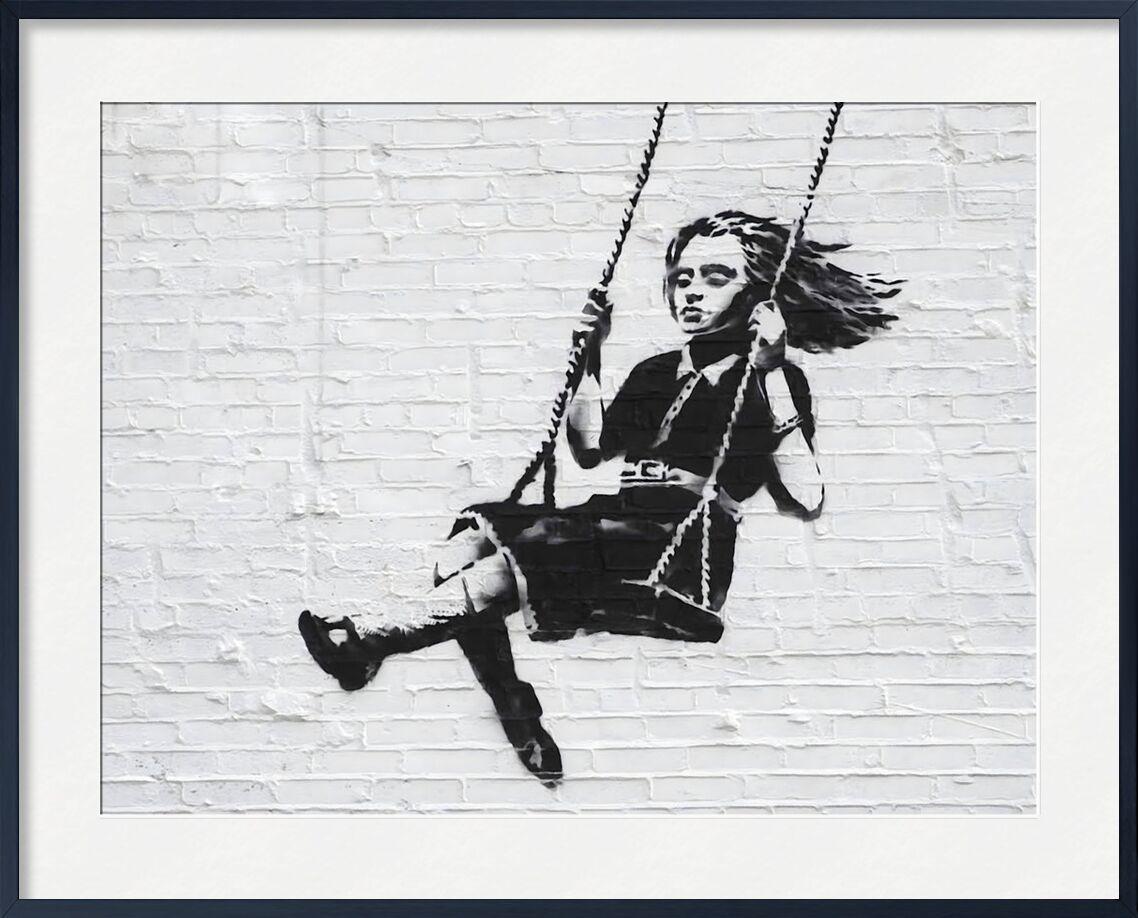 Girl on a Swing - BANKSY from AUX BEAUX-ARTS, Prodi Art, banksy, street art, graffiti, balancoire, girl