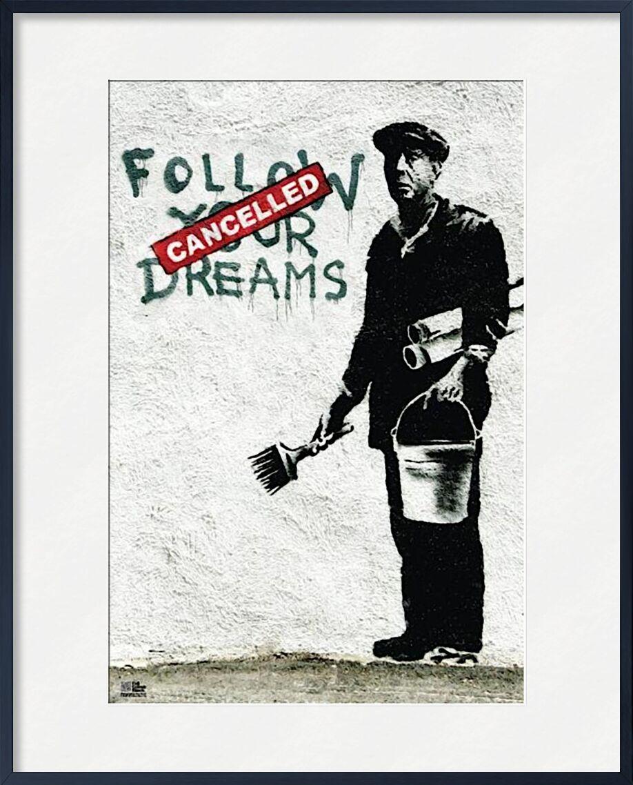 Follow Your Dreams - BANKSY from AUX BEAUX-ARTS, Prodi Art, banksy, street art, wall, worker, dreams