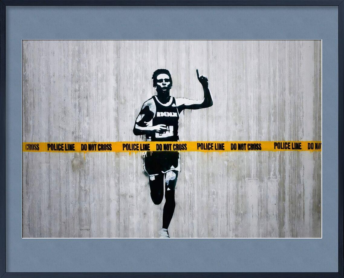 Do not cross - BANKSY von AUX BEAUX-ARTS, Prodi Art, banksy, Straßenkunst, Kurs, Polizei, Läufer, Ermittlung