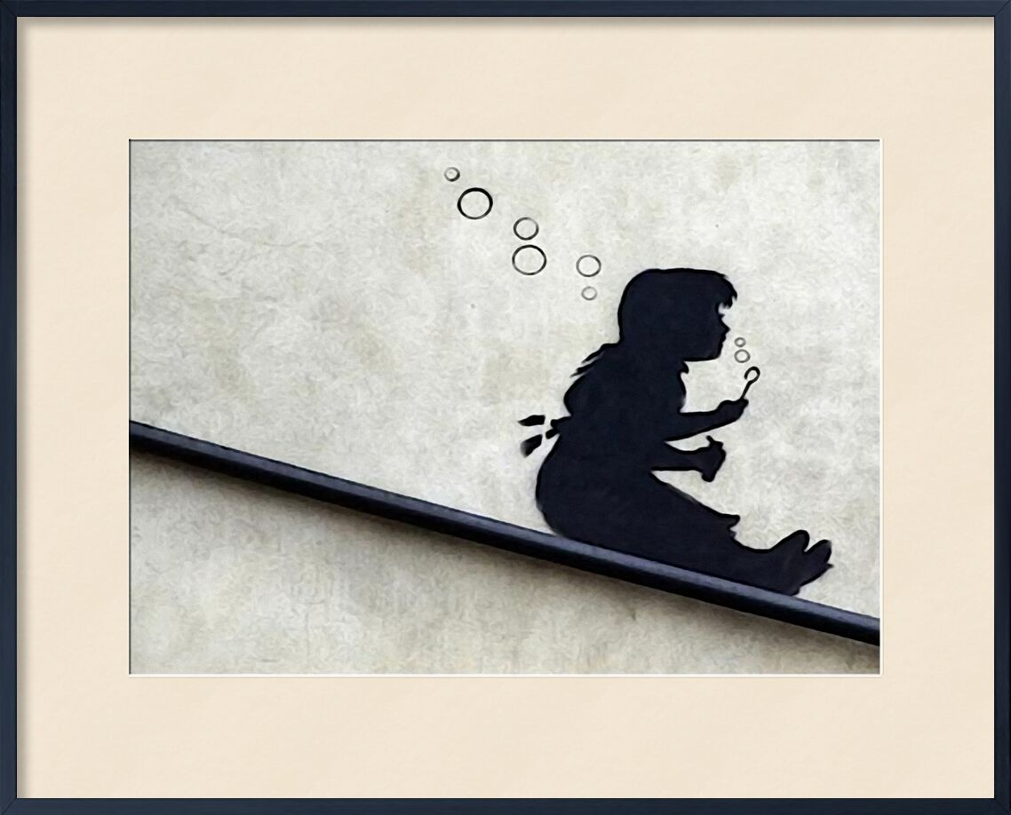 Bubble Girl - BANKSY from AUX BEAUX-ARTS, Prodi Art, banksy, street art, Bulles, girl, graffiti