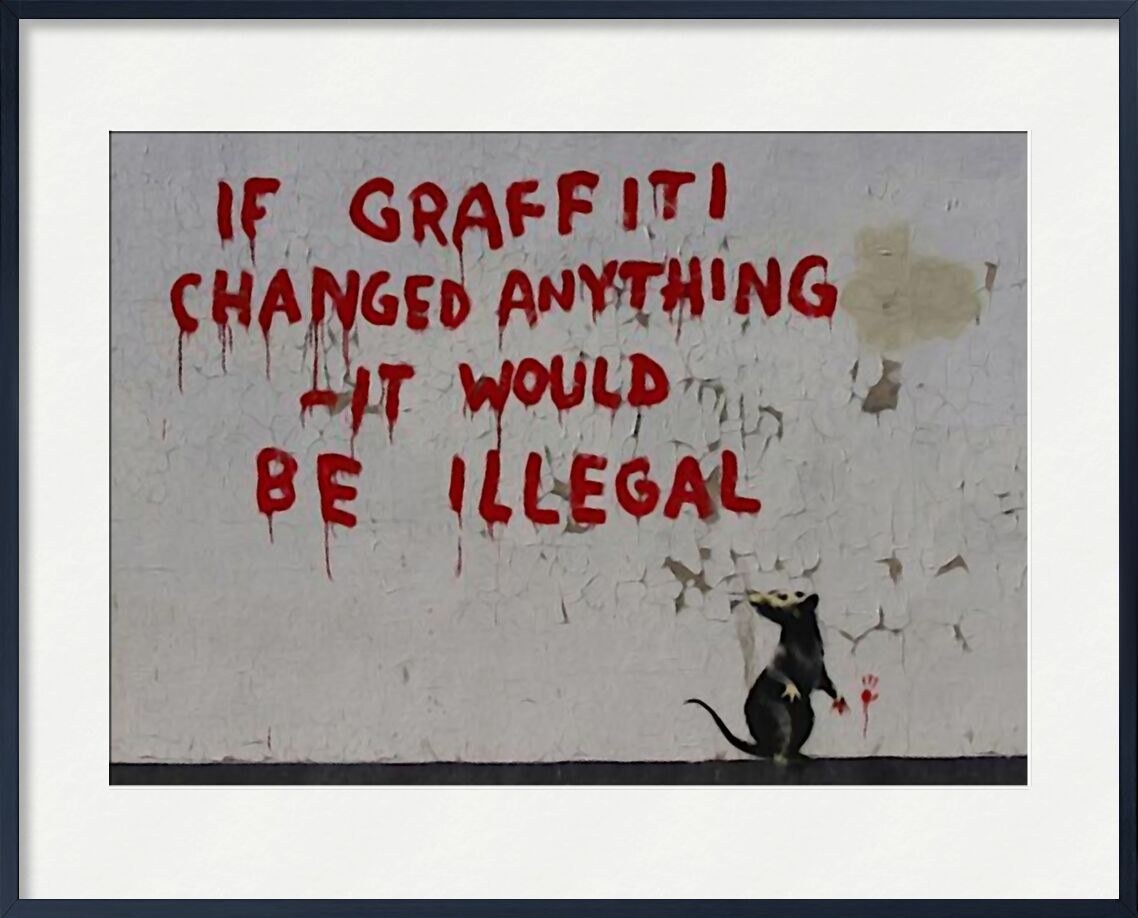 If Graffiti changed anything - BANKSY from AUX BEAUX-ARTS, Prodi Art, banksy, street art, rat, graffiti