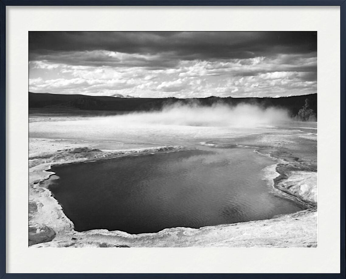 Fountain Geyser Pool Yellowstone National Park Wyoming - Ansel Adams from AUX BEAUX-ARTS, Prodi Art, ANSEL ADAMS, fountain, sky, Yellowstone