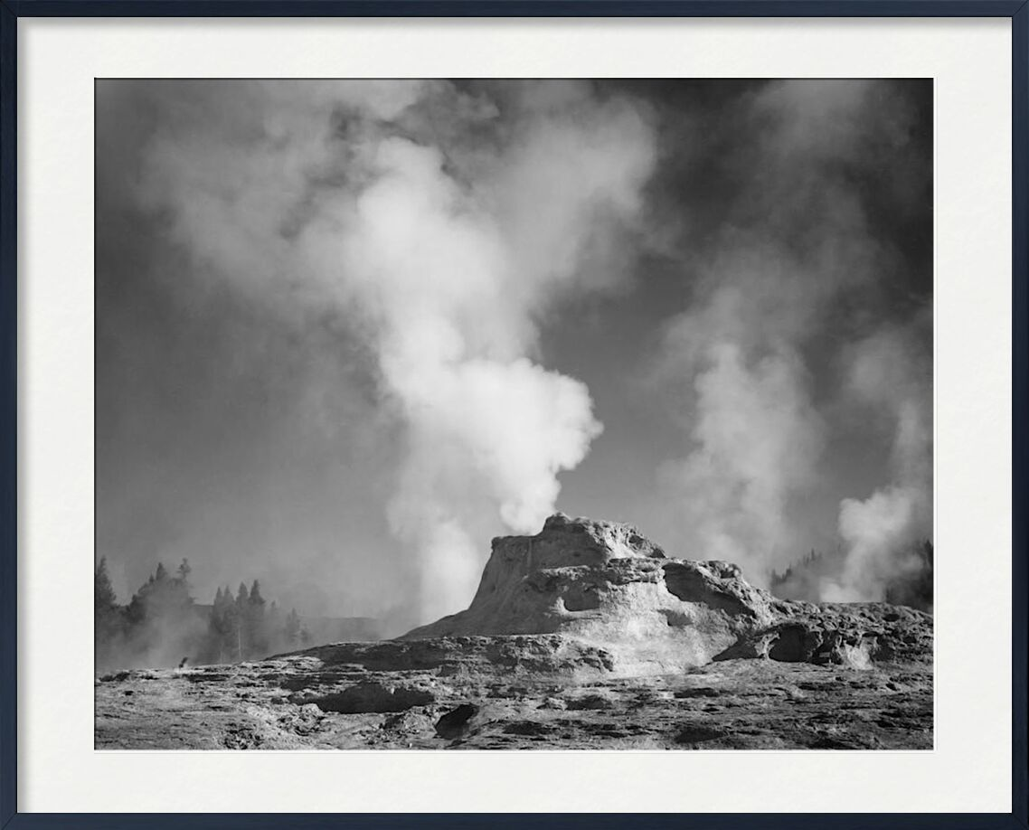 Castle Geyser Cove, Yellowstone - Ansel Adams from AUX BEAUX-ARTS, Prodi Art, ANSEL ADAMS, Yellowstone, volcano, geyser
