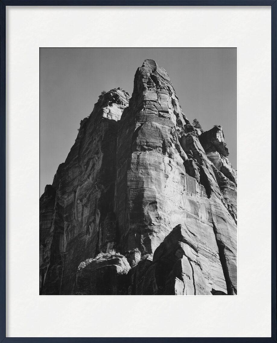 Rock Formation From Below - Ansel Adams from AUX BEAUX-ARTS, Prodi Art, ANSEL ADAMS, mountains, cliff