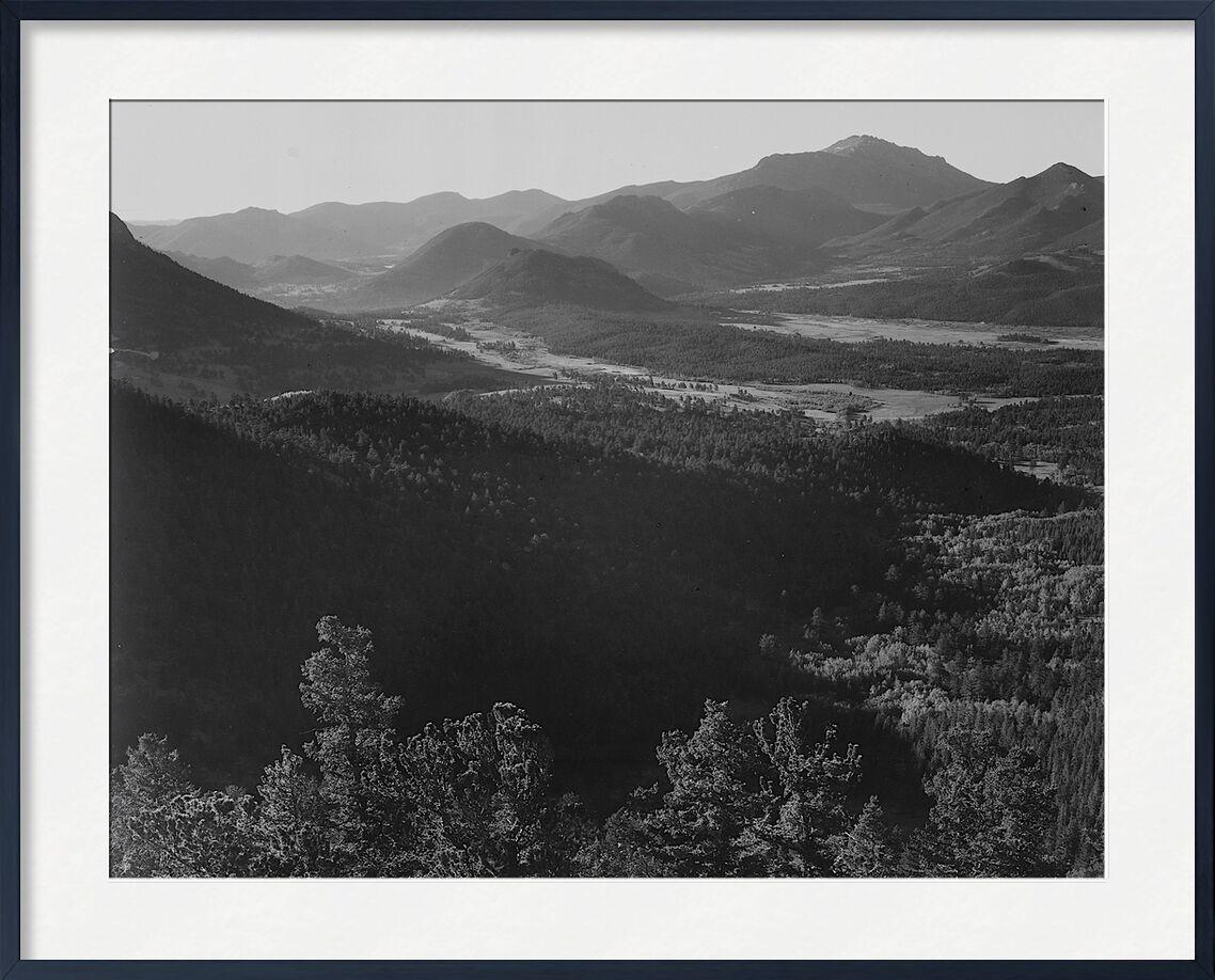 Rocky Mountain National Park - Ansel Adams desde AUX BEAUX-ARTS, Prodi Art, montañas Rocosas, blanco y negro, montañas, ANSEL ADAMS