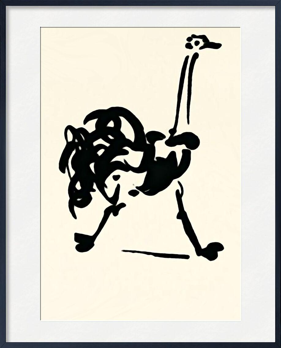 L'autruche - Picasso de AUX BEAUX-ARTS, Prodi Art, Autruche, dessin au trait, dessin, picasso
