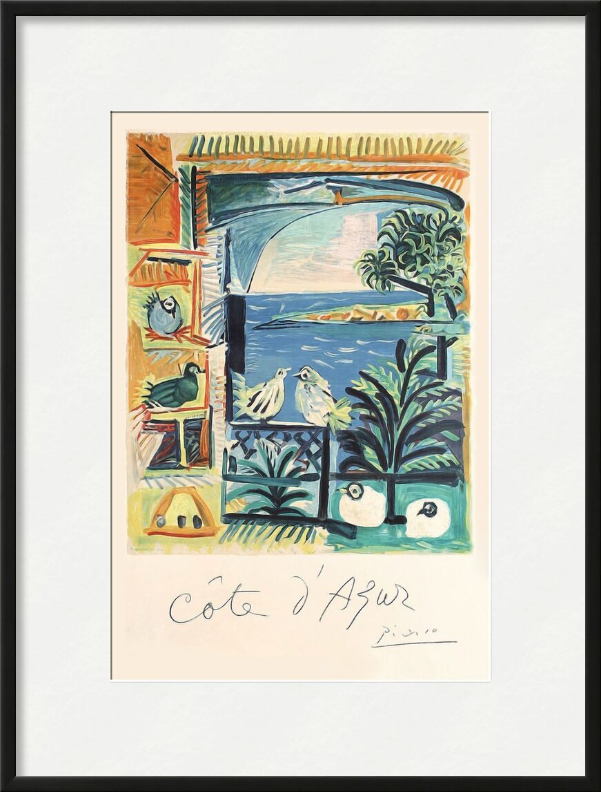 Côte d'Azur - The studio of Velazquez and his Pigeons - Picasso from AUX BEAUX-ARTS, Prodi Art, picasso, pigeons, french riviera, France, painting workshop