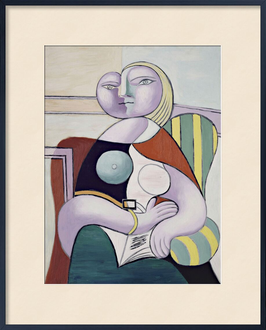 Woman Reading - Picasso from AUX BEAUX-ARTS, Prodi Art, picasso, painting, abstract, reading