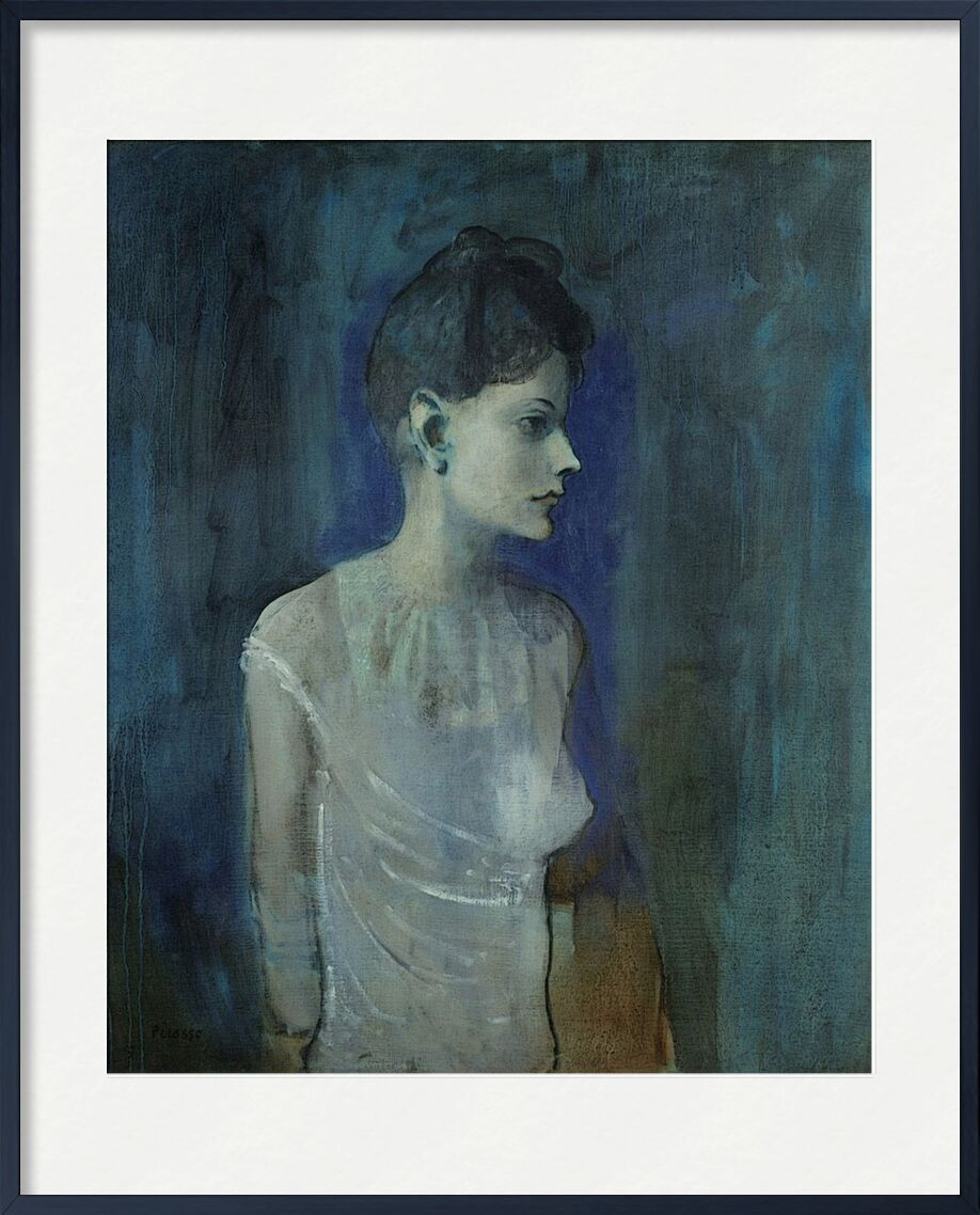 Girl in a Chemise - Picasso from AUX BEAUX-ARTS, Prodi Art, picasso, painting, girl, naked, bare